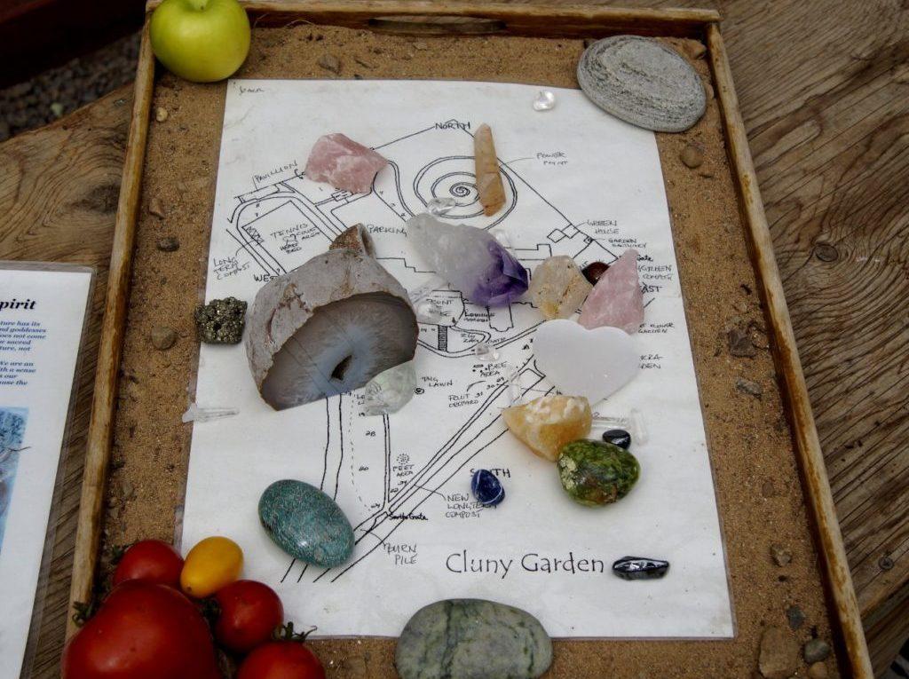 Plattegrond helen met stenen